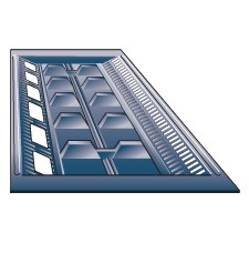 Hd 4025 - Panel Ventilator - Double Row Flyscreen -15° Pitch image