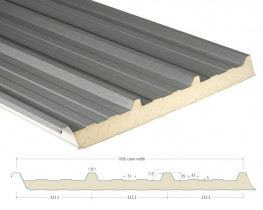 AS35 Composite Cladding Panels are insulated steel cladding which consist of two coated steel profiles bonded to a core of PIR insulation; they may be used to form roofs, down to a 4 degree pitch, and walls.
