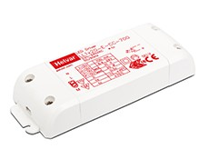Fixed constant current output: 700 mA. Maximum 20 W load. Open and short circuit protection. Overvoltage protection. Over temperature protection. Suitable for Class II luminaires. Linear enclosure with strain relief for independent use....