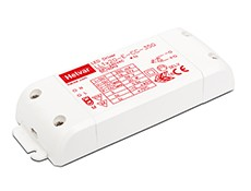 Fixed constant current output: 350 mA. Maximum 20 W load. Open and short circuit protection. Overvoltage protection. Over temperature protection. Suitable for Class II luminaires. Linear enclosure with strain relief for independent use....