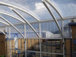 Architects and designers are using ETFE single layer systems to create dynamic all weatherproof spaces. Because ETFE is lightweight, there is great cost savings to be had by reducing the size of the supporting framework and foundations.