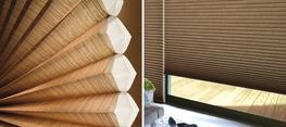 The Alustra® Collection of Duette® Architella® honeycomb shades fuse function with style. Unique fabrics are layered together in the Architella construction to create a distinctive look with superb energy efficiency bringing stunning practicality to each room in your home.