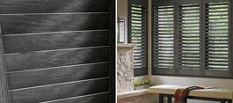 Classic Heritance® hardwood shutters are plantation-style shutters crafted from real wood and use dovetail construction for maximum strength and durability. Available in a large selection of stain and paint finishes.