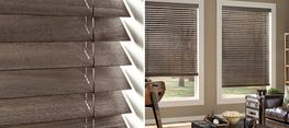 Parkland® Weathered Wood Blinds offer a range of stains with an intricate wire-brushed texture on abachi wood, featuring today's most popular colors. Parkland Weathered blinds bring surface texture and depth to the window....