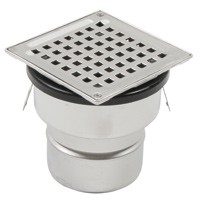 BLÜCHER Domestic-150 adjustable drain for concrete/tiled floors, with vertical DIA 110mm outlet, without membrane flange...