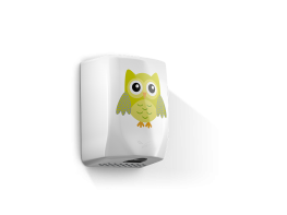 F5 Eco Owl -  Low noise hands under dryer with children in mind - Veltia UK Limited
