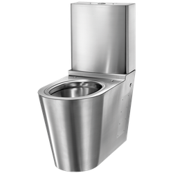 MONOBLOCO S21 WC 304 stainless steel satin with cistern (ex-0110170002)  Floor-standing WC pan with dual flush cistern 3/6 L  Bacteriostatic 304 stainless steel. Polished satin finish. Stainless steel thickness: 1.5mm  One-piece pressed WC bowl, seam-free for ...