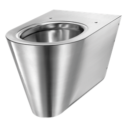 S21 S wall mtd WC horizontal inlet 304 stainless steel satin (ex-0112030001)  Wall-hung WC pan.   Compatible with all standard frame systems available on the market.   Elegant and simple design.   Bacteriostatic 304 stainless steel.   Polished satin fini...
