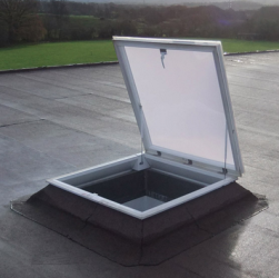 Em-Hatch access hatches are designed to allow access to and from roof areas and can form part of a fire escape route, be used for accessing roof mounted plant, equipment and for other maintenance tasks. They are available with either external or internal locki...