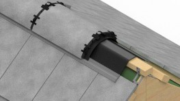 The Whitesales Dry-Fix Ridge System helps roofers complete ridge tile installation faster and more safely – whatever the weather. It was developed in response to the revised code of practice for slating and tiling pitched roofs - BS 5534:2014.