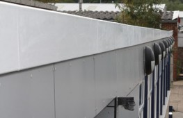 Em-Trim GRP roof edge trims are high quality, durable flat roof trims. Manufactured from glass fibre and reinforced polyester, Em-Trim's are almost completely maintenance free and do not suffer from corrosion or rust. Available in bvlack, white, grey and a ran...