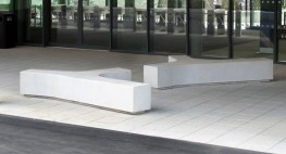 The Pewsham DNA Bench PBN413 is a solid pre cast concrete tri bench, which provides great architectural styling and multiple seating options for users.