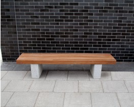 The Langley Bench LBN114 has a vertical slatted bench top with granite plinth mounts for easy placement on finished grade. This 1800mm length bench is our standard unit and can be manufactured to match any project scheme with various timber or recycled plastic...