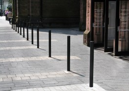 The Malford Bollard MBD200 is a simple and cost effective fixed bollard solution. The 76mm diameter galvanised steel bollard can be left exposed or powder coated to a specific RAL colour to match existing project scheme. The Malford Bollard MBD200 is a fixed b...