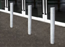 The Malford Bollard MBD203 is a larger diameter fixed bollard solution. The 114mm diameter galvanised steel bollard can be left exposed or powder coated to a specific RAL colour to match existing project scheme. The Malford Bollard MBD203 is a fixed bollard bu...