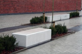 The Pewsham Bench PBN411 is a solid pre cast concrete 1800mm long and wider bench with curved edging for added user comfort. This single unit concrete bench is available in various colours and finishes to match individual site requirements; from standard grey ...
