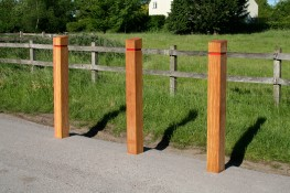 The Sheldon Bollard SBD300 is a fixed timber bollard with a optional reflective band addition. The 145mm section size of the bollard provides the strength needed for the bollard main purpose and is available in various timber finishes. The Sheldon Bollard SBD3...