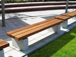 The Sheldon Bench SBN331 is chunky timber top plinth mounted bench with a straight slatted bench top. This plinth mounted bench can be easily placed directly onto finished grade after any complicated paving or ground finishes have been complete. The benches ar...