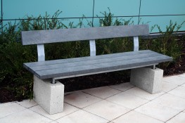 The Sheldon Seat SST303 is a popular recycled plastic seat for external areas wanting an additional environmentally friendly touch. The 3 slat horizontal recycled plastic bench top and single or double back slatted on a plinth mounted framework is popular with...