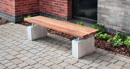 The Sheldon Bench SBN304 is a popular benching provision for many external project areas. The 3 slatted horizontal timber bench top and plinth mounted framework is popular with customers due to its standard 1800 by 450mm dimensions and easy installation method...