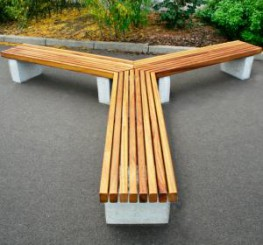 The Langley Bench LBN116 is a tri style bench made up of three units arranged to create a Y shaped tri bench unit. The vertical slatted top and granite plinth mounts make for easy placement on finished grade after any paving work has been complete. This space ...