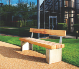 The Langley Seat LST101 has a vertical slatted bench top and steel plinth type legs. The chunky steel C shape legs can be fixed down below finished grade or direct to surface and give the impression of the granite style plinth mount but without the weight. The...