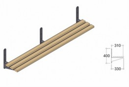 Perimeter Benching with Cantilever Brackets image