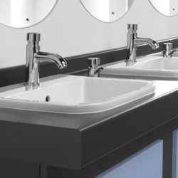 Smart and hardwearing, our counter top vanity units create depth and deliver additional space. Available with a solid surface top and integral basin for the sleekest of finishes....