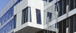This extensive range has been developed for use in curtain wall projects where the specifier is seeking either to match the non-vision spandrel panels to the vision area of glazing or to provide a contrast to the vision area glazing. The panels are available to match the whole range of visual effects created by the use of tinted or reflective glasses, and can be supplied with or without insulation, and in single glazing as well as Insulating Glass Unit form. Spandrel Glass can be glazed singly or as a part of an Insulating Glass Unit to provide the shadow effect of adjacent vision units. The colour choice can either complement or contrast depending on the coating or colour of the external glass. Spandrel Glass can be insulated with a variety of materials to meet even the most exacting of standards.