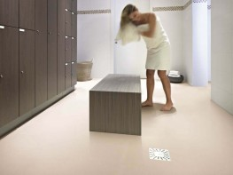 Wetroom floor products are developed for use in continuously wet areas, where water flows frequently and barefoot traffic is the standard; or a combination of barefoot and footwear traffic occurs. This product combines barefoot and footwear slip resistance, fo...