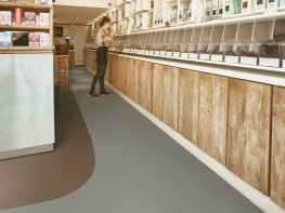 Marmoleum solid cocoa sheet linoleum by forbo flooring systems