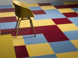 Marmoleum modular linoleum tiles by forbo flooring systems