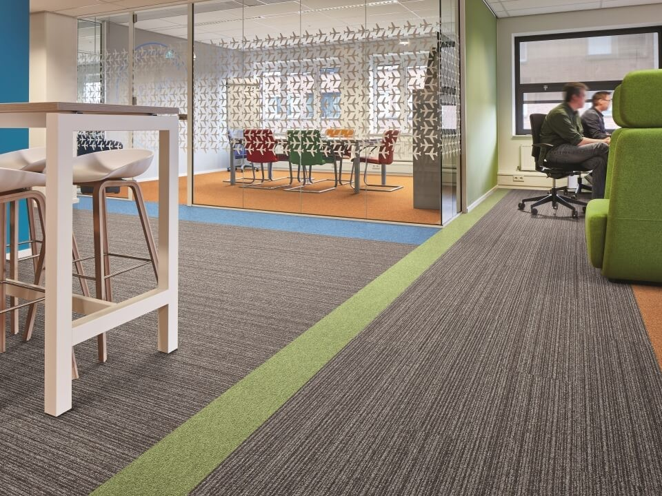 Tessera Layout And Outline Tufted Low Loop Pile Carpet
