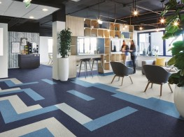 Tessera Layout and Outline tufted low loop pile carpet tile - Forbo Flooring Systems