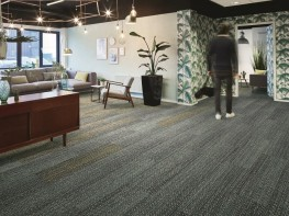 Tessera In-touch multi-height loop pile carpet tile planks image