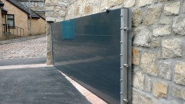 Flood Control International offers three types of flood gates: Lift-Hinged Flood Gates, Swing-Hinged Flood Gates and Pivot Flood Gates.