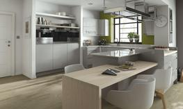 Remo Dove Grey Kitchen - Elite Trade and Contract Kitchens Ltd