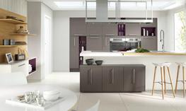 Clean lines and a choice of colours   this simple slab door introduces a streamlined look to any kitchen. The lacquered finish makes cleaning quick and easy in this seamless yet highly functional kitchen. Choose from our palette of 27 painted Matt or Gloss col...