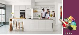 Lucente Grey High Gloss Kitchen image