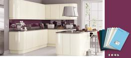 Lucente Cream High Gloss Kitchen image