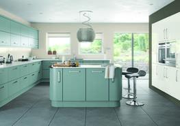 Lastra Fjord Super Matt Kitchen - Elite Trade and Contract Kitchens Ltd