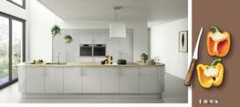 Lusso Light Grey High Gloss Kitchen image