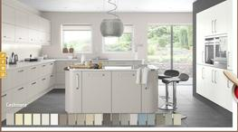 Lusso Hand Painted Made To Order Matt Kitchen - Elite Trade and Contract Kitchens Ltd
