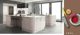 Lusso Cashmere High Gloss Kitchen image