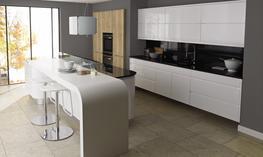 Remo Gloss White Kitchen - Elite Trade and Contract Kitchens Ltd