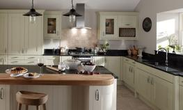 Milbourne Alabaster Kitchen - Elite Trade and Contract Kitchens Ltd