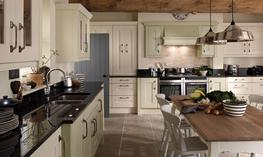Langham s timeless design with wide rails has an finest and enduring style. The chunky solid timber door and combined with it s classic shaker styling will give you a kitchen which will last for years without dating. Available in 27 Matt colours....