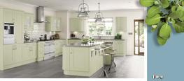 Cartmel Sage Green Kitchens- Matt Kitchen image