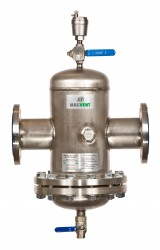 Magvent Air, Dirt & Magnetite Separator Demountable. Air Magnetite Sludge and Dirt Removal from Heating / Chilled Water Systems. Air Magnetite Sludge and Dirt in heating and chilled water systems can be the cause of major problems such as pump failure, corrosi...
