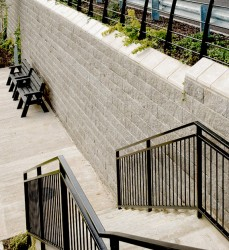 Anchor Vertica® - Mortarless / pinless segmental retaining walls for sloping hillsides image